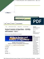 mcq for algorith
