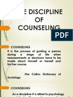 The Discipline of Counseling