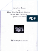 intern report on city bank