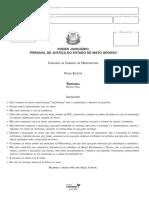 Vunesp 2006 Tj Mt Juiz Sentenca Penal Gabarito