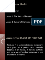 lesson1thebasicsoffirstaidlesson2surveyofthesceneandthevictims-140919022335-phpapp01