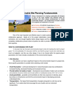 Six Sustainable Site Planning Fundamentals
