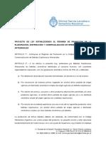 2019.06.25 Proyecto de Ley Creando El Regimen de Promocion en La Elaboracion Distribucion y Comercializacion de Bebidas Espirituosas Artesanales
