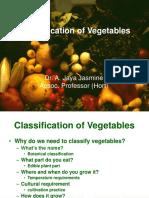 Vegetable classification