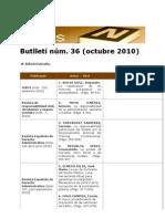 BiblioNews núm. 36 (octubre 2010)