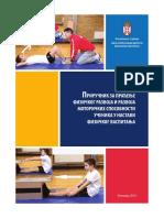 Приручник за праћење физичког развоја и развоја моторичких способности ученика у Настави Физичког Васпитања