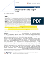 Effect of Timely Initiation of Breastfeeding On
