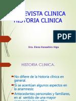 Entrevista Clínica, Historia Clínica. Clase.