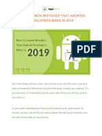 Most Common Mistakes That Android Developers Make in 2019