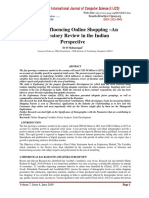 FACTORS INFLUENCING ONLINE SHOPPING –AN EXPLORATORY REVIEW IN THE INDIAN PERSPECTIVE