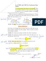 Properties of PDF and CDF for Continuous R.V.