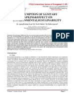 CONSUMPTION OF SANITARY NAPKINS&EFFECT ON ENVIRONMENTALS USTAINABILITY