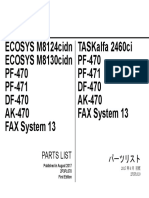 Kyocera ECOSYS M8124,M8130 - Parts List [2017]