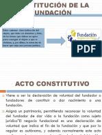 Constitucion de La Fundación
