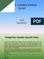 SUMBER- SUMBER SYARIAH ISLAM.pptx