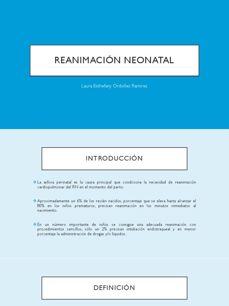 Reanimación Neonatal   PDF   Reanimación cardiopulmonar   Parto