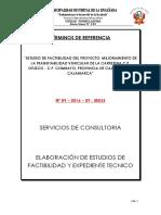 Tdr Nº 009-2016 Otuzco Combayo Terminado 2016 Factibilidad