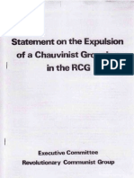 RCG Expulsion Statement November 1976