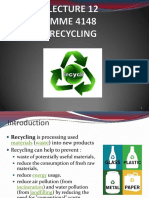 Lecture 12 Recycling