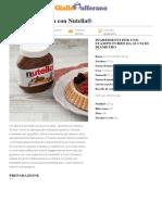 Crostata Morbida Con Nutella