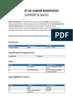Recruitment of Junior Associates