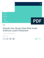 Pulitzercenter - Reporting Dispute Over Alcoas Dam Roils South American Lands Parliament