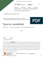Tipos de Contabilidad _ Clases de Contabilidad en La Empresa