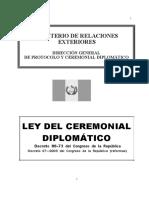 Ley de Ceremonial Diplomatico