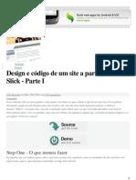 Design e Codigo de Um Site a Partir Do Zero Slick
