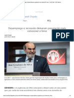 Desemprego e recessão deixaram população mais vulnerável à fome - Jamil Chade - UOL Notícias