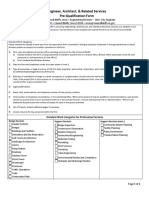 Engineer Pre-qualification Form