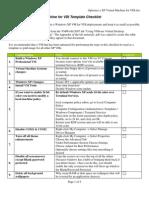 Optimized XP Virtual Machine for VDI Template Checklist