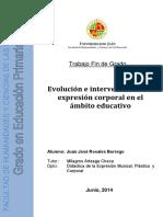 Evolución e intervención, expresión corporal en el ámbito educativo