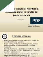 Modulul 3 - Evaluarea Statusului Nutritional