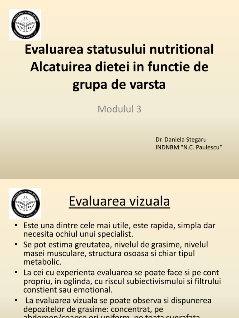menținerea pierderii în greutate o evaluare a nevoilor)