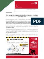 Por obras de repavimentación, el paso a nivel de la calle Zapiola en Castelar permanecerá cerrado por diez días