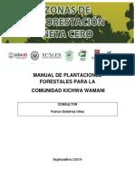 MANUAL DE PLANTACIONES FORESTALES PARA LA COMUNIDAD KICHWA WAMANI
