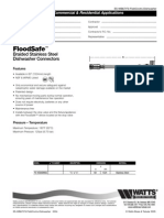 FloodSafe Braided Stainless Steel Dishwasher Connectors Specification Sheet
