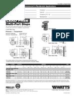 Lead Free Multi-Port Stops Specification Sheet