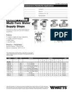 Lead Free Multi-Turn Water Supply Stops Specification Sheet