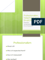 Professionalism, Telephone and Email Etiquette (1)