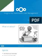 315 Einblicke in Nextcloud s User Management Folien Insights Into User Management