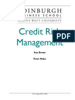 Credit Risk Course