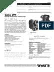 WFT Specification Sheet