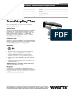 WaterPEX BrassTees Specification Sheet