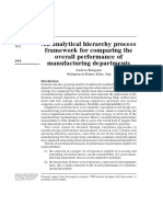 An Analytical Hierarchy Process Framework for Comparing the Overall Performance of Manufacturing Departments Andrea Rangone 1996