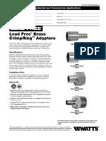 LFWP10B,LFWP11B,LFWP12B,LFWP13B Specification Sheet
