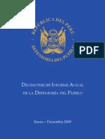Décimo Tercer Informe Anual de la Defensoría del Pueblo