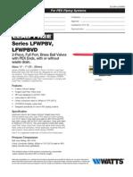 LFWPBV Specification Sheet