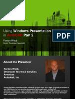 AutoCAD.net Advanced UI Design Using WPF Webcast 2009 Pt2